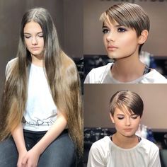 Best Picture For 360 undercut long hair For Your Taste You are looking for something, and it is goin Long To Short Hair, Super Long Hair, Long Hair Cuts, Short Hair Styles, Best Short Haircuts, Haircuts With Bangs, Pixie Hairstyles, Pixie Haircut, Brunette Hair Cuts