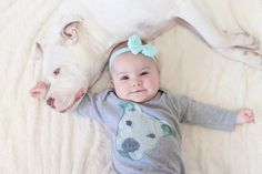 Luv a Bull Pitbull Infant long sleeve one-piece