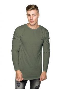 Judas Sinned - Long Sleeve Super Stretch Crew T-Shirt - Dark Green | Turn to Judas Sinned for distinctive designs in premium interest fabrics. Shop the full collection now @ Urban Celebrity!