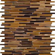 Artistic Tile Jazz Glass Collection - New York Satchmo Sticks - bathroom tile - other metro - Artistic Tile