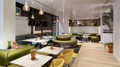 View the full picture gallery of Urban Meadows Cafe - Double Tree, Hilton Cafe Restaurant, Restaurant Design, Room London, Cafe Interior Design, Urban, Table Decorations, Furniture, Crowley, Home Decor