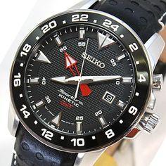 Seiko Sportura Kinetic Automatic Sapphire GMT Mens Watch SUN015P2, SUN015