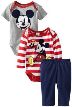 Amazon.com: Disney Baby Baby-Boys Newborn 2 Piece Boysuit with Pant Set-4, Multi, New Born: Clothing