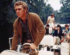 "Steve McQueen pleasure boats while filming ""Papillon""..."