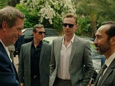 Hugh Laurie, Tom Hiddleston, and Bijan Daneshmand in The Night Manager (2016)