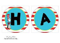 My Paper lily: {Free Printables} Dr. Seuss is the man! happy birthday banner