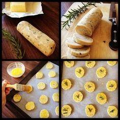 Crackers au parmesan et romarin - Recettes de cuisine Ôdélices: