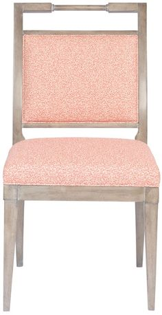 Vanguard Furniture: V978S Maria Dining Side Chair.  soft seat but wood rail for dirty hands