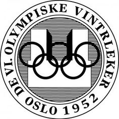 Official logo for the 1952 winter Olympic games. Oslo