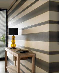 Verve Stripe : Brown Wallpaper  Graham and Brown Wallpaper