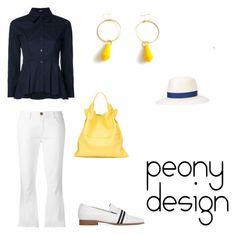 """Peony Design"" by teri-peony on Polyvore featuring Jil Sander Navy, Current/Elliott, Jil Sander, rag & bone and Gigi Burris Millinery"