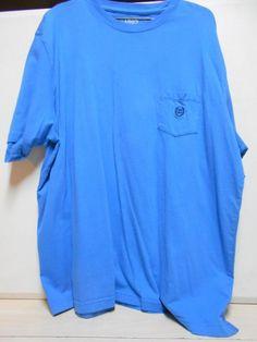 Comfortable Blue T-Shirt W/Chaps Emblem Short Sleeve SIZE 2 XL Men's Shirt #Chaps #BasicTee