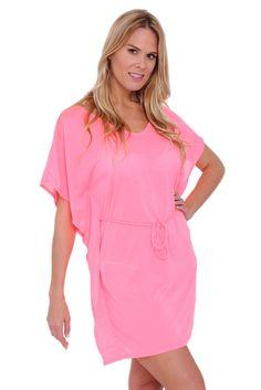 06d941e4d9001 Women's Tie Waist Tunic Swimwear Cover-up Beach Dress Made in the USA -  SHORETRENDZ
