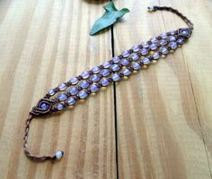 Bracciale macrame di Opalite braccialetto di di SelinofosArt