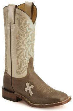Tony Lama cross inlay cowgirl boots