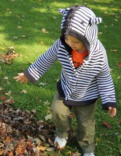 That's my little guy in his Zebra Sweater. He loves is, he insists on having the hood on :) We get so many complements on this Toto knit sweater! Animal Sweater, Sweater Making, Clothes Crafts, Baby Sweaters, Little Boys, Sweater Cardigan, Organic Cotton, Cool Outfits, Guy