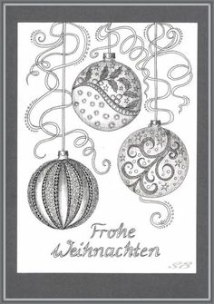 Bauble drawing w/sharpy Christmas Doodles, Christmas Coloring Pages, Christmas Drawing, Zentangle Drawings, Doodles Zentangles, Zentangle Patterns, Tangle Doodle, Tangle Art, Christmas Colors