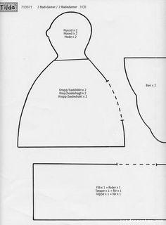 Retales Divinas Tentaciones: Tutorial tilda gordita bañista o tilda bath