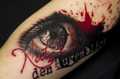 trash polka eye tattoo done by Blanka in Selfmade Tattoo Berlin