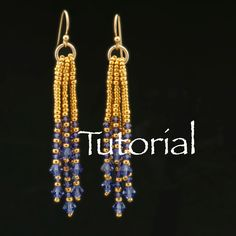 Waterfall Earrings Tutorial with Seed Beads and by JewelryTales