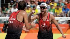 After dropping theiropener match,Ben SaxtonandChaim Schalkcame back toclaim a big win at the Rio 2016 beach volleyball tournament. The Canadian...