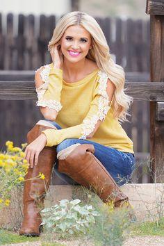 My Reason To Smile Sweater - Mustard