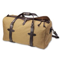 Filson Dufflebag. These things are expensive for a reason---they'll probably outlive you.