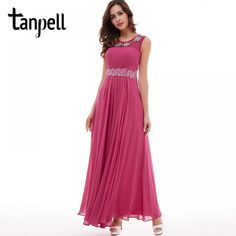 Tanpell peach prom dress new beading appliques pleated chiffon a line dresses back zipper up cheap women formal long prom gown - TakoFashion - Women's Clothing & Fashion online shop Peach Prom Dresses, Long Prom Gowns, Evening Dresses, Formal Dresses, Trendy Clothes For Women, Dress Backs, New Dress, Ball Gowns, Chiffon