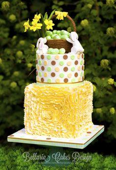 Ruffles+Easter+cake+-+Cake+by+Bellaria+Cake+Design+