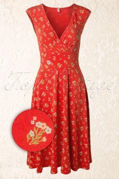 Blutsgeschwister - 50s Oh La La Tralala Dress in Red
