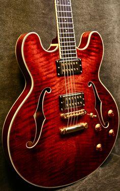 double cutaway semi-hollow body guitar