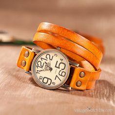 Vintage Dermis Wrap Watch, Women Watches Double winding