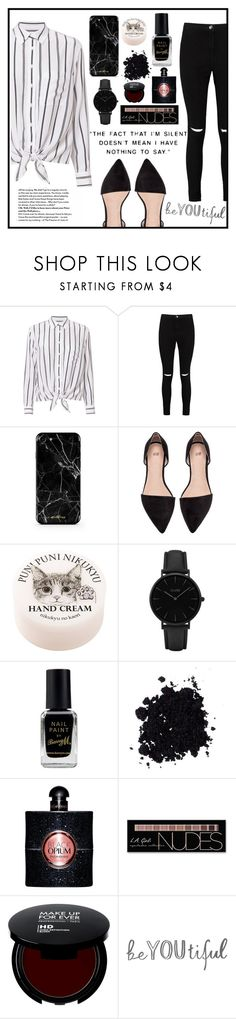 """""""."""" by buflie ❤ liked on Polyvore featuring Equipment, Boohoo, CLUSE, Barry M, Yves Saint Laurent and Charlotte Russe"""