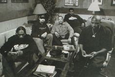 Snoop Dogg, B Real, DrDre, Daz Dillinger, and Nate Dogg on a PlayStation 1