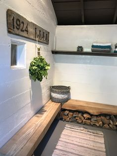 Pinterest inspired finished sauna dressing room. Built in 1924 and now looking cherished again. Dressing Room, Tub, House Ideas, Cabin, Inspired, Interior Design, Building, Inspiration, Nest Design