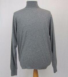 Peter Millar Sweater Large Gray 100% Luxe Cashmere Turtleneck Gray Golf Pullover #PeterMillar #Turtleneck