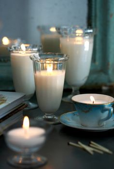 candle light and relaxation