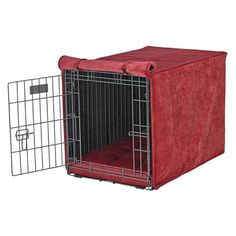 Luxury Crate Cover Size: Medium (21' H x 19' W x 30' L), Color: Berry ** See this great image  : Dog kennels