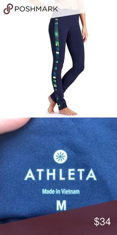 4a30a5e75a Athleta Floral Flow Skinny Up Leggings Size Medium