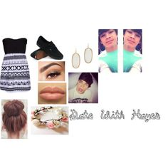 Date with Hayes Grier by angelina-caletz on Polyvore featuring Hurley, Vans, Kendra Scott and Lancôme