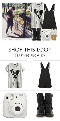 """Zoo in London at sunny day with Gemma"" by stylistdirectioner ❤ liked on Polyvore featuring Vero Moda, Frye, women's clothing, women, female, woman, misses, juniors, styles and 1DFamily"