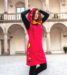 Šaty / tunika - 100% bavlna / Zboží prodejce Jane Art | Fler.cz Balerina, Sporty Chic, Sweater Hoodie, Hippy, Hoodies, Sewing, Swimwear, Sweaters, Dresses