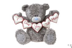 get well bears for children | 28'' Me to You Bear with 'I Love You This Much' Hearts - Very Large ...