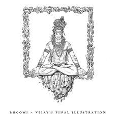 Hindu Tattoos, God Tattoos, Shiva Tattoo, Indian Illustration, Autumn Illustration, Tattoo Illustration, Rudra Shiva, Shiva Shakti, Shiva Art