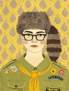 Moonrise Kingdom Boy Portrait Print by AhJennyShop on Etsy #moonrisekingdom #wesanderson