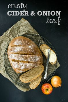This crusty Cider & Onion Loaf has a beautiful tangy taste from scrumpy cider, and all the sweetness of gently cooked onions. A beautiful savoury cob loaf.