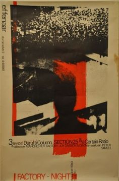 A CERTAIN RATIO, THE DURUTTI COLUMN, SECTION 25 POSTER 24.10.1980 – MANCHESTER DISTRICT MUSIC ARCHIVE
