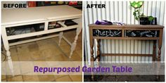 Repurposed Garden Table @Lisa Samples