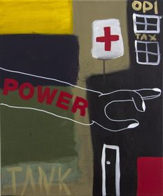 Ray Moore - Power (2013) – Mixed Media on Canvas, 50 x 60 cm. Available at Unequity, Munich