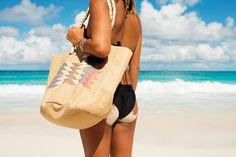 Sun Seeker Straw Beach Bag